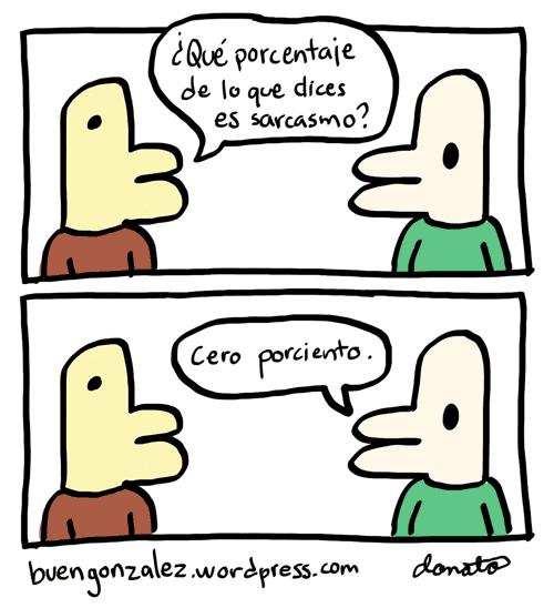 González contestando pregunta sobre su sarcasmo.