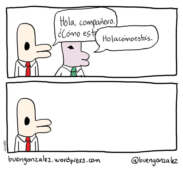 El saludo común