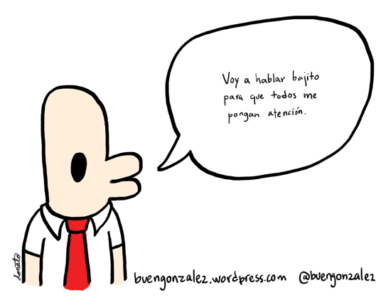 Hablo bajito